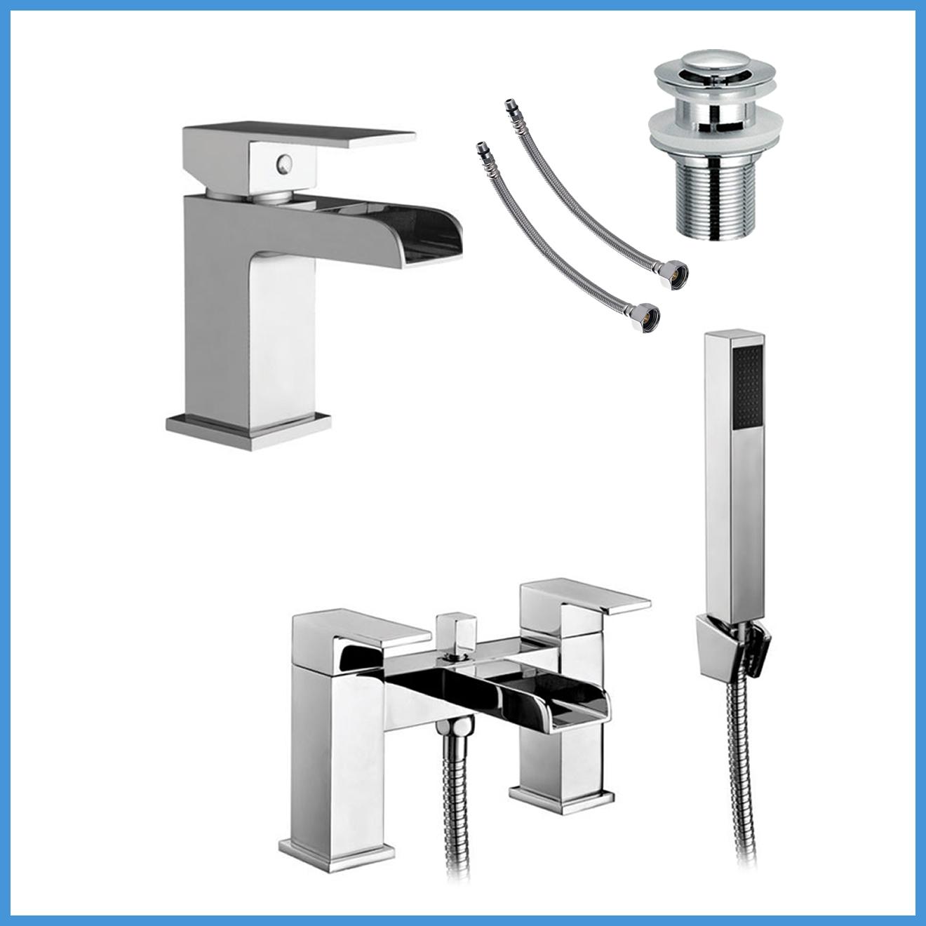 waterfall bath taps bath filler shower mixer tap bathroom set ebay