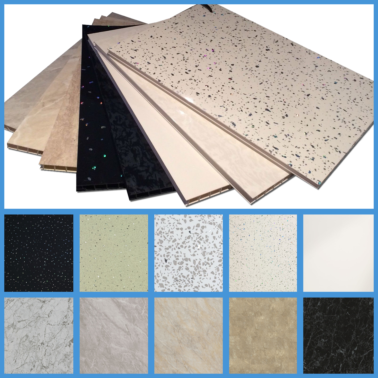 Waterproof Wall Board : Upvc bathroom shower wall cladding panels waterproof