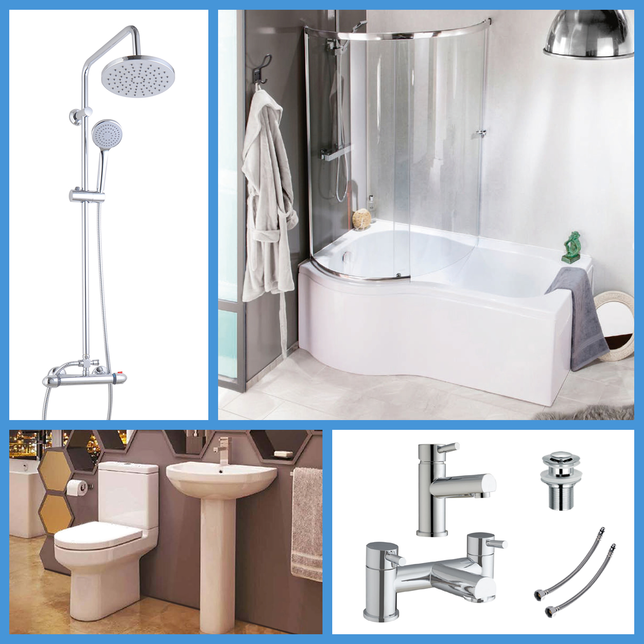 P shaped bathroom suite left hand 1700 bath btw toilet wc for P bathroom suites cheap