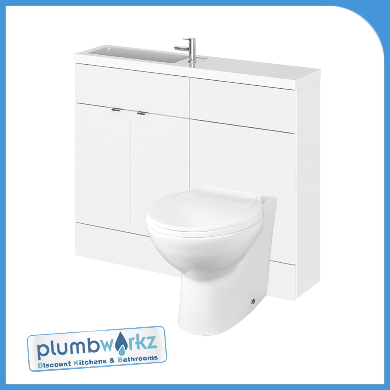 Designer Combi Bathroom Vanity Unit Wc Unit With Basin Sink Toilet Ebay