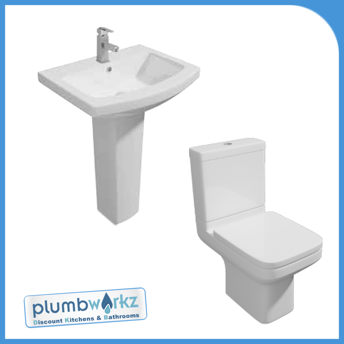Trim toilet wc pan cistern basin sink pedestal ceramic for Cheap toilet and sink set